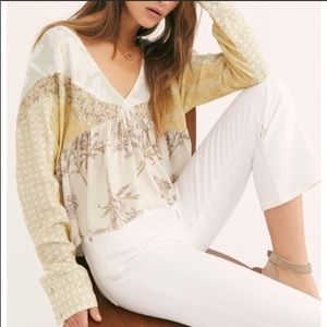 Free people Natural Aloha State Of Mind Top NWT